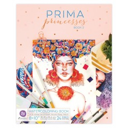 "Prima Pincesses Book 2 Water Coloring Book 8""x10"" Prima Marketing"