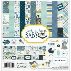"Rock-A-Bye Baby Boy Collection Kit 12""x12"" Carta Bella"