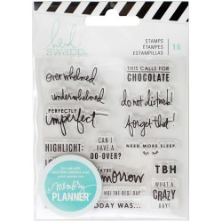 Day Memory Planner Clear Stamps Heidi Swapp