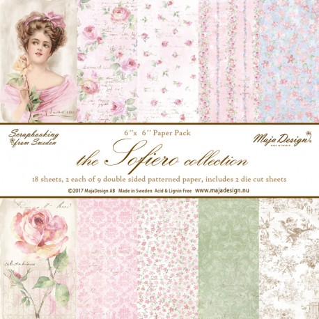 "Carta the Sofiero collection Paper Pack 6""x6"" Maja design"