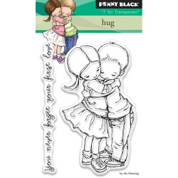 "Hug Clear Stamp 3""x4"" Penny Black"