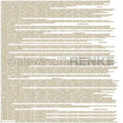 "Gluecksworte Gold 12""x12"" Designpaper Mimis Kollection Alexandra RENKE"