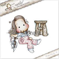 Timbro Forget Me Not Tilda with Spring Pallet Magnolia Rubber Stamp - ST17