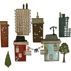 Suburbla Cityscape Thinlits Dies by Tim Holtz Sizzix