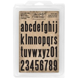 Block Lowercase Alpha Cling Foam Stamps Idea-ology by Tim Holtz