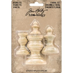 Wooden Vignette Finial Set by Tim Holz Idea-ology