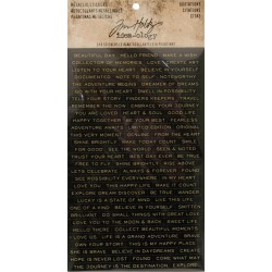 Quotations Metallic Stickers Idea-ology by Tim Holtz