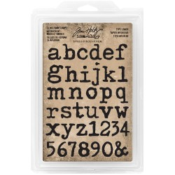 Type Lowercase Alpha Cling Foam Stamps Idea-ology by Tim Holtz