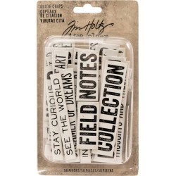 Quote Chips Chipboard Word & Phrases Idea-ology by Tim Holtz