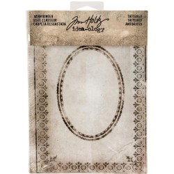 Tattered Printed Fabric Cover Worn 2-Ring Binder Idea-ology by Tim Holtz
