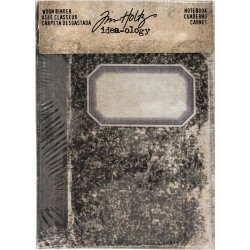 Notebook Printed Fabric Cover Worn 2-Ring Binder Idea-ology by Tim Holtz