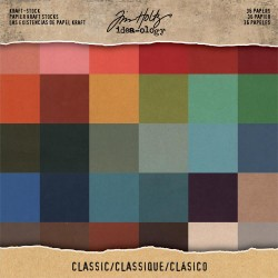 "Classic Kraft Stock Cardstock Pad 8""x8"" Idea-ology by Tim Holtz"