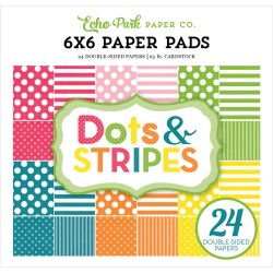 """Spring Dots And Stripes 6""""x6"""" Paper Pad Echo Park"""