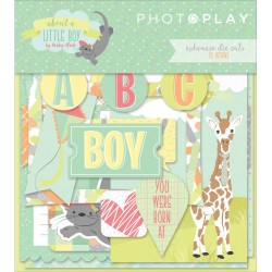 About a Little Boy Ephemera Die Cuts by Becky Heck Photo Play