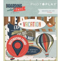 Boarding Pass Ephemera Die Cuts by Becky Heck Photo Play