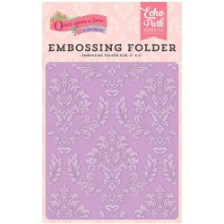 "Enchanted Damask Embossing Folder 5""x6"" Echo Park"