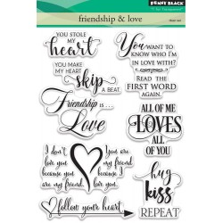 Friendship & Love Clear Stamps Set Penny Black