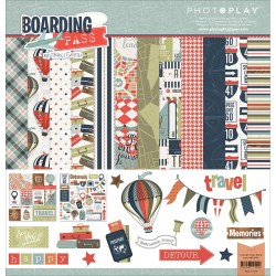 "Boarding Pass 12""x12"" Collection Pack Photo Play"