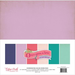 "Once Upon A Time Princess Coordinating SolidsPaper Pack 12""x12"" Collection Kit Echo Park"