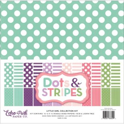 "Little Girl Dots And Stripes 12""x12"" Collection Kit Echo Park"