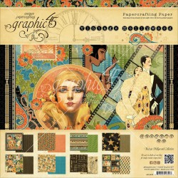 """Vintage Holliwood Papercrafting Paper 12""""x12"""" Graphic 45"""