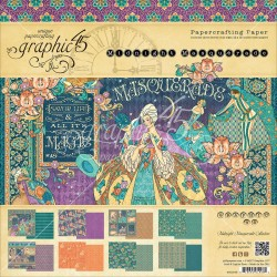 "Midnight Masquerade Papercrafting Paper 12""x12"" Graphic 45"