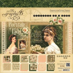 "Portrait Of Lady Papercrafting Paper 8""x8"" Graphic45"