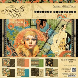 """Vintage Holliwood Papercrafting Paper 8""""x8"""" Graphic45"""