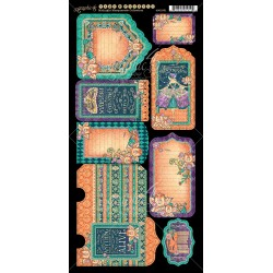 """Midnight Masquerade Tags & Pockets Cardstock Die Cuts 6""""x12"""" Sheet Graphic 45"""