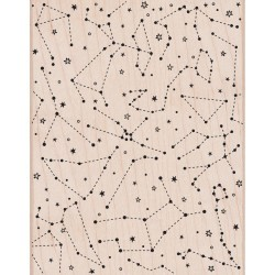 Constellation Background Mounted Rubber Stamps Set Penny Black