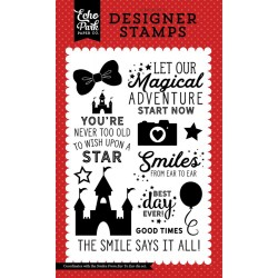 Magic and Wonder Smiles From Ear To Easr Clear Stamps Echo Park