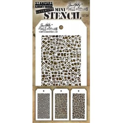 Set 28 Tim Holtz Mini Layering Stencil 3 Pk