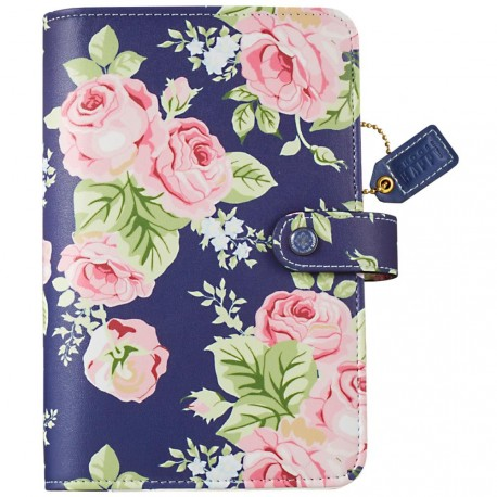"""Navy Floral Color Crush Faux Leather Personal Planner Kit 5,25""""x8"""" Webster's Pages"""