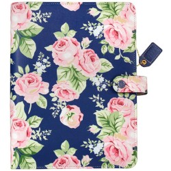 Navy Floral Color Crush Faux Leather Personal Planner Kit A5 Webster's Pages
