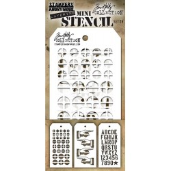 Set 29 Tim Holtz Mini Layering Stencil 3 Pk