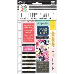 Happy Life Planner Stickers Classic Create 365 The Happy Planner Me & My Big Ideas