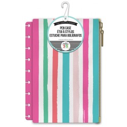 Painted Multi Stripe Pouch Snap In Pen Case Create 365 Me & My Big Ideas