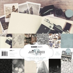 "Just Landed Paper Pack 12""X12"" 12 Pkg Kaisercraft"