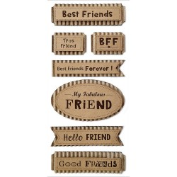 Friends Forever MultiCraft Sentiment Kraft Tags