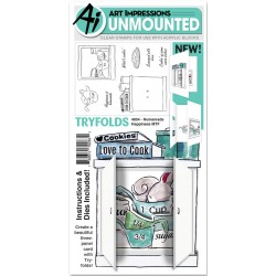 Homemade Happiness Mini Try'folds Clear Stamps Art Impressions