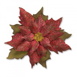Layered Tattered Poinsettia Bigz Dies by Tim Holtz Sizzix