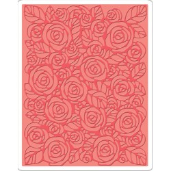 Roses Texture Fades A2 Embossing Folder Tim Holtz