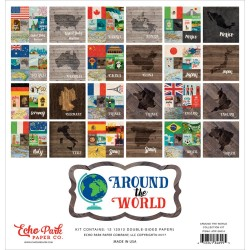 "Around The World Collection Kit 12""x12"" Echo Park"