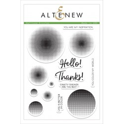 "Timbri Halftone Circles Clear Stamps 6""x8"" Altenew"