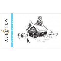 "Winter Cottage Clear Stamp Set 2""x3"" Altenew"