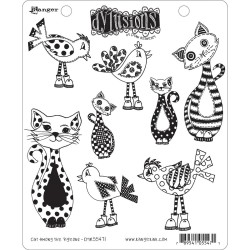 Cat Among The Pigeons Dyan Reaveley's Dylusions Cling Stamp