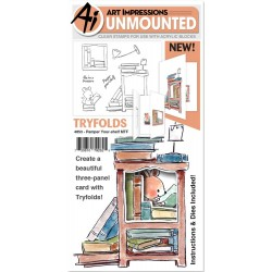 Pamper TYour-shelf MTF Try'folds Clear Stamps & Dies Art Impressions