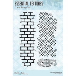 "Essential Textures Clear Stamps 4""x6"" Blue Fern Studios"