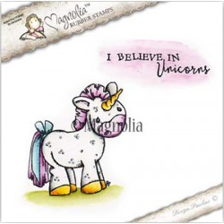 Timbro Unicorn with Text Magnolia Rubber Stamp - BU17