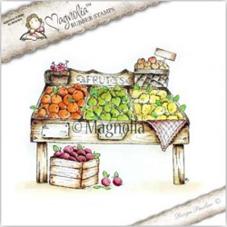 Timbro Fruit Stand Magnolia Rubber Stamp - FM17